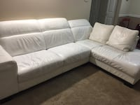 Genuine leather, Gorgeous sectional sofa with throw pillows