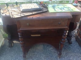 Antique Bar Wine Entry Table
