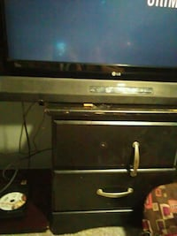 black and brown wooden TV stand Sapulpa, 74066