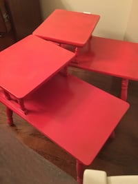 red and black wooden table Pickering, L1X 1C9