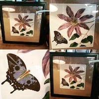 black wooden frame flower with butterfly painting photo collage Wasaga Beach, L9Z 1V1