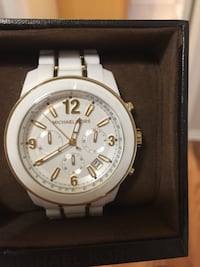 round silver Michael Kors chronograph watch with link bracelet Midland, 79703