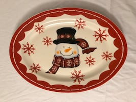 Snowman Decoration Platter (New)
