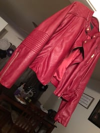 red leather zip-up jacket Waco, 76711