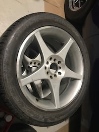 Set of four universal 5 star alloys with 235/45ZR17 Nexen high speed directional tires Vaughan, L4H 0G5