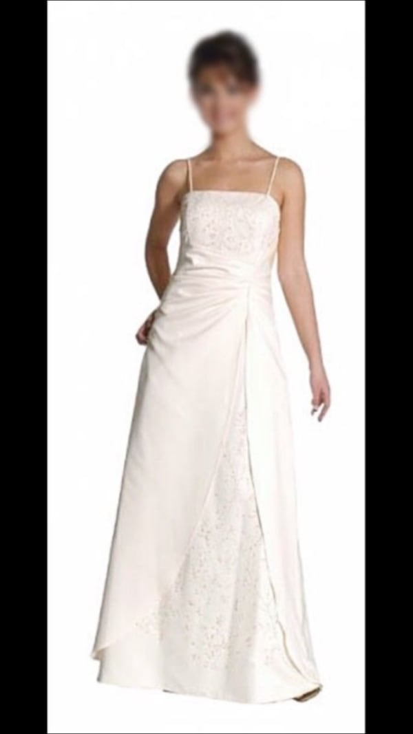 Wedding/Formal Dress    *** CAN BE DYED ANY COLOR or left white. be0f3cdc-6110-4206-8122-93438b1b3c77