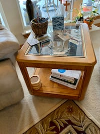 Nice Wood and Glass end table