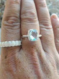New blue topaz and opal rings Albuquerque, 87111