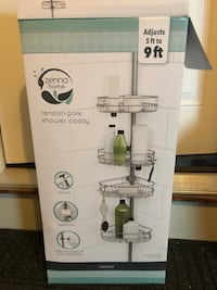 Tension pole shower caddy - opened but never used