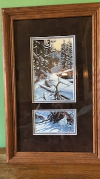 Wolf and rabbit framed picture  De Forest, 53532