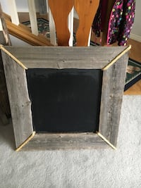Solid Rustic Barn Wood with Chalk Board Middle. 29 inches by 29 inches Cochrane, T4C 1K6