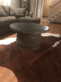 round black wooden coffee table Stamford, 06903
