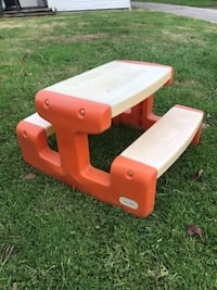Kids Table Picnic Bench Orange Tiltonsville, 43963