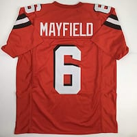 Unsigned Baker Mayfield Cleveland Orange Custom Stitched Football Jersey Size Men's XL New No Brands/Logos Ashburn, 20147