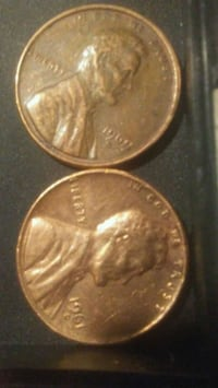 1961 d and 1969 s penny's one of each