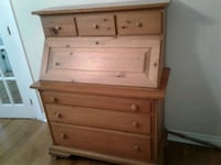 Antique hideaway desk with drawers  Toronto, M4E 1W4
