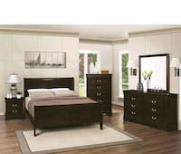 black wooden bedroom furniture set Stockton, 95203