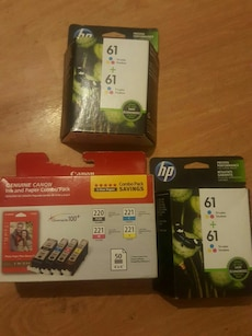 Canon and HP ink cartridges