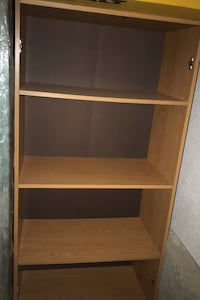 Brown wooden shelf