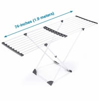 Polder Expandable Laundry Drying Rack stand clothing drying steel