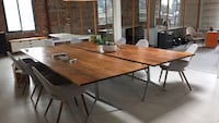 Walnut dining / conference tables. And chairs