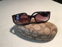 brown tint Coach sunglasses