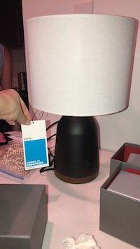 Brand new modern lamp with wood colored base Falls Church, 22041