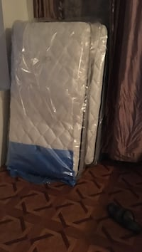 white and blue bed mattress Laval, H7N 2J1