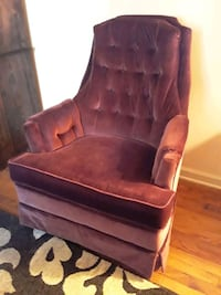 Velvet Swivel/Rock Chair