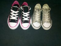 two pairs of white and red low-top sneakers Blacklick, 43004