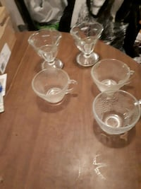 clear glass footed bowl lot 791 km