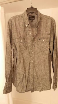 gray button-up long sleeve shirt with two chest pockets Chilliwack, V2P 4R3