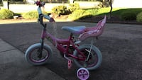 Toddler's pink and purple bicycle with training wheels Burnaby, V5E 3N5
