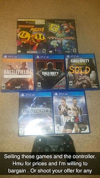 six assorted PS4 game cases Bakersfield, 93313