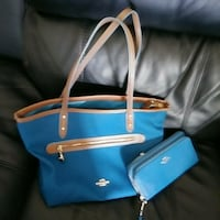 blue and brown leather crossbody bag Roswell, 30022