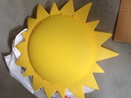 Yellow sun light fixture