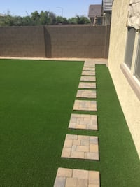 Paver, synthetic grass, design