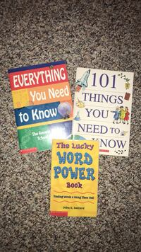 3 Books: Everything You Need to Know, 101 Things You Need to Know, & The Lucky Word Power Book Oshkosh, 54904