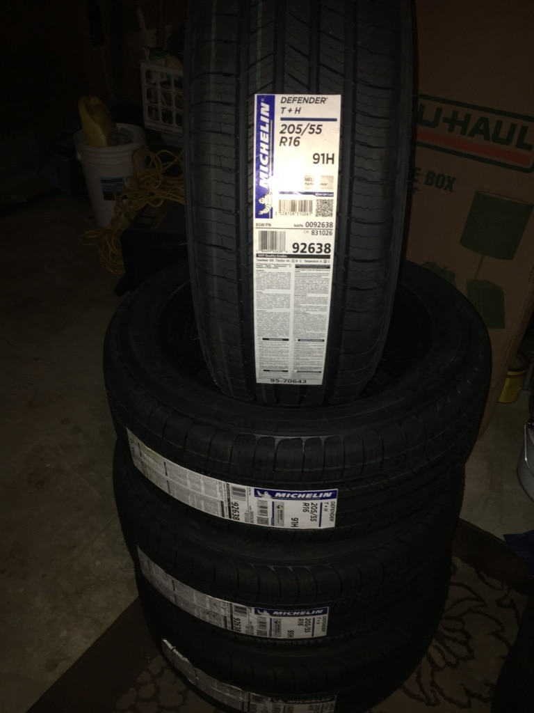 ... Cars and Motors 4 Brand New Michelin Defender Tires Sizes P205/55R16