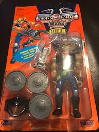 Vintage Rare MIB 1993 Biker Mice in Mars Throttle + Martian Monster Bike Action Figure Galoob Richmond, V6Y 0A7