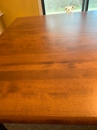 Solid Oak Pub style table and 6 chairs Barrie, L4M 6T5
