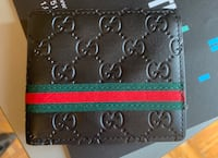 Men's Gucci black leather wallet brand new