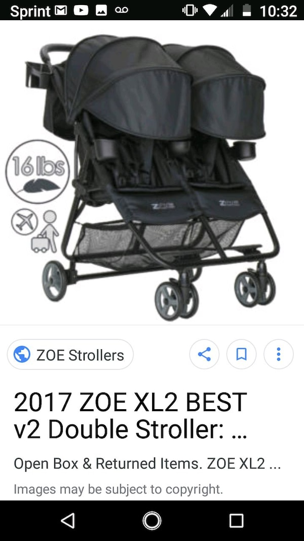 Amazing Zoe Xl2 Best V2 Double Stroller 16 Lbs