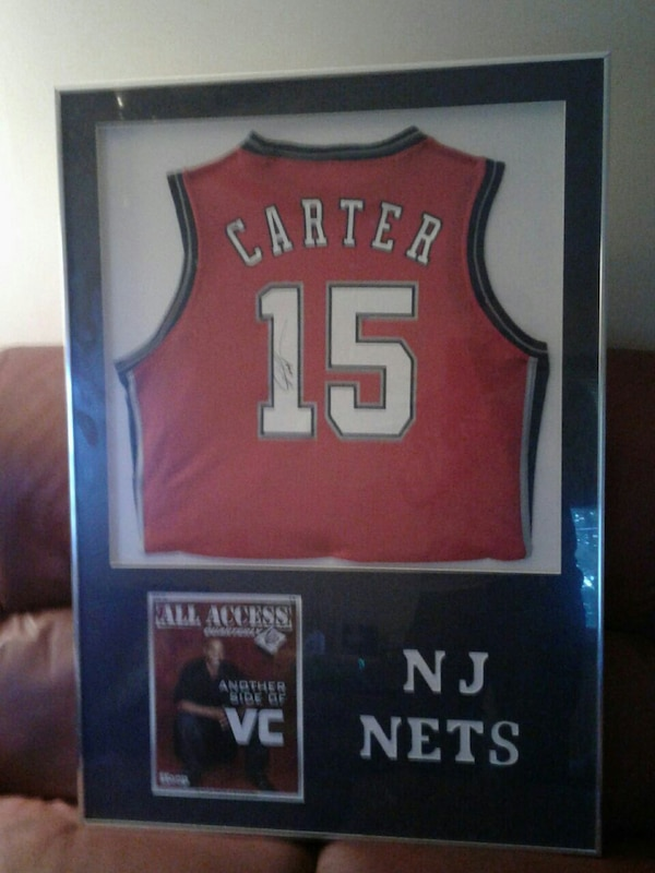 new arrival 8ef30 a0d8a Used Signed Vince Carter Nets Jersey for sale in Hopatcong ...