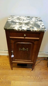 Marble top mahogany side table Toronto, M5R 1J2