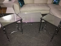 MIRRORED AND CHROME COFFEE TABLE SET VERY MODERN $270 OBO Toronto, M6B 3H8