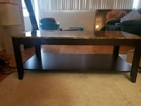 rectangular brown wooden coffee table Mississauga, L4Y 2N6