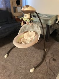 baby's gray and white cradle n swing Medicine Hat, T1B 1C5