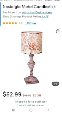 Nostalgic Candle Holder Lamp Crown Point, 46307
