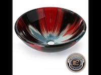 BLACK, RED and BLUE VESSEL SINK...... CHECK OUT MY PAGE FOR MORE ITEMS Baltimore, 21206